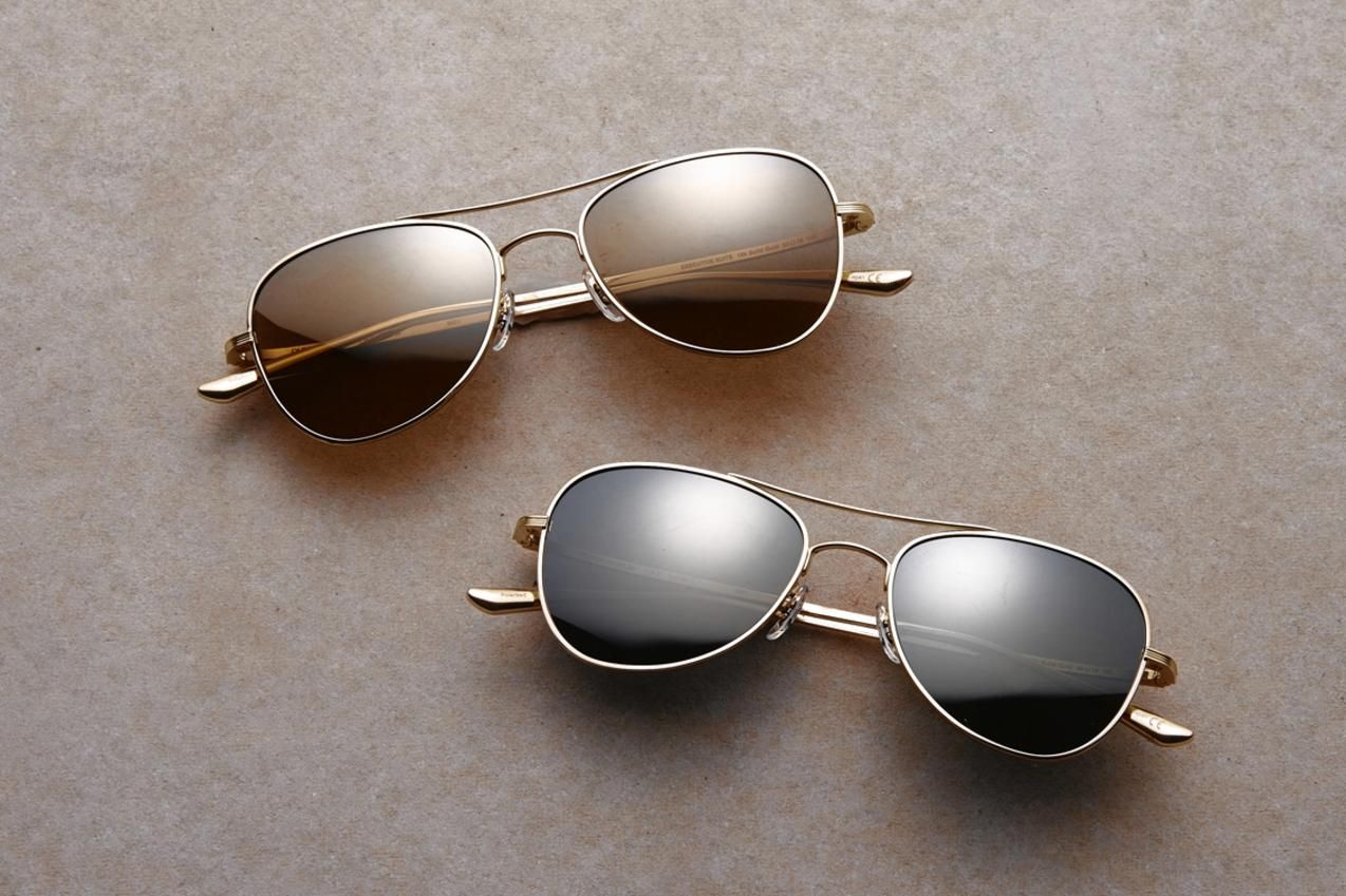 ea03440b93 Oliver Peoples The Row Sunglasses (Executive Suite in 18k gold) via WSJ.com