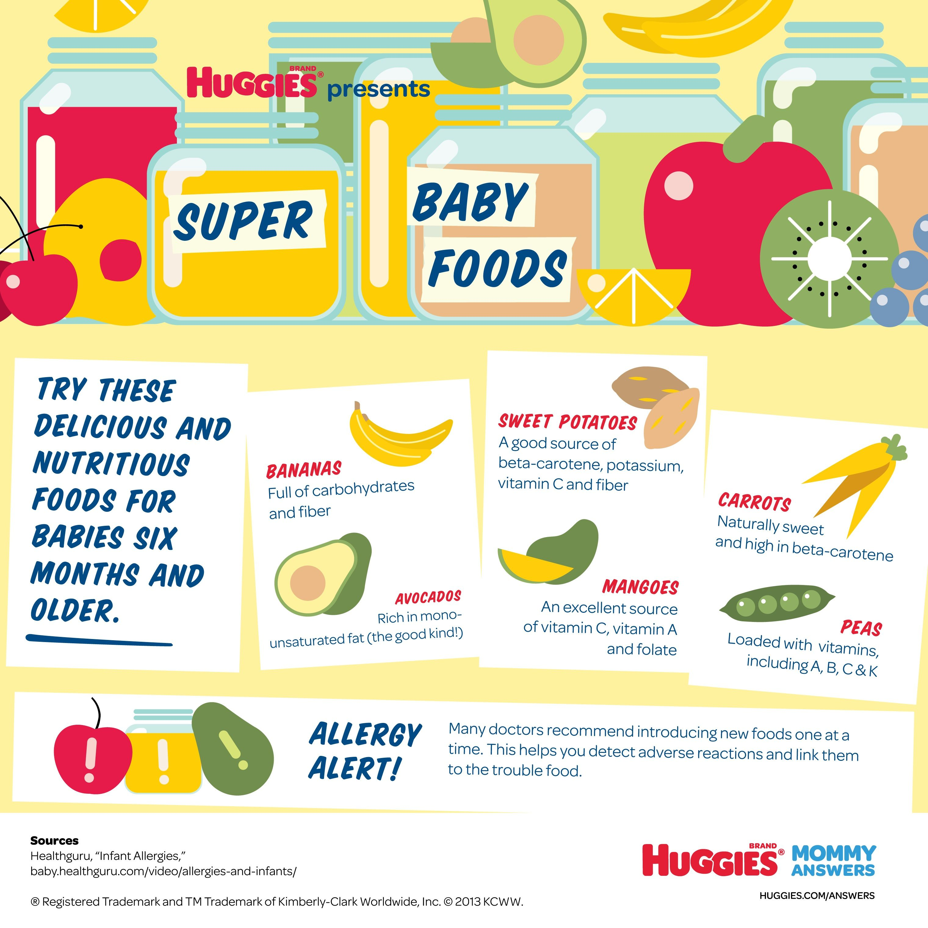 Super Baby Foods by HUGGIES® Baby food recipes, Baby