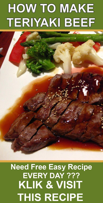 Easy Teriyaki Beef Recipes Resep Makanan Sehat Resep Daging Sapi Daging Sapi
