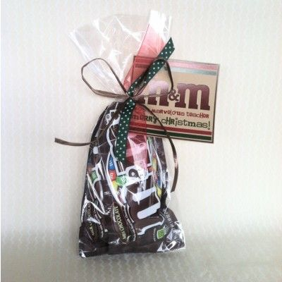 Christmas teacher appreciation gift mms with a cute tag and bus drivers and janitors solutioingenieria Choice Image