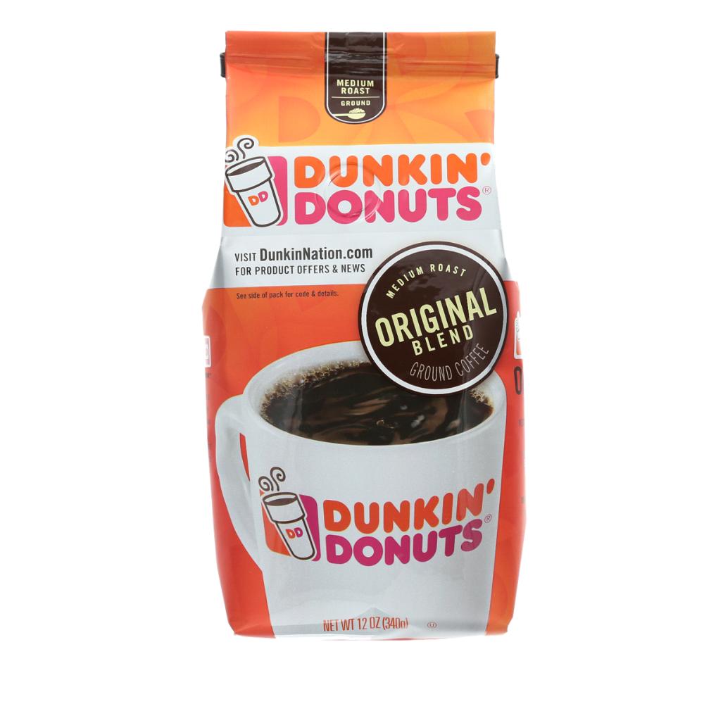 Dunkin' Donuts Ground Coffee Original Blend, 12 oz. Ground