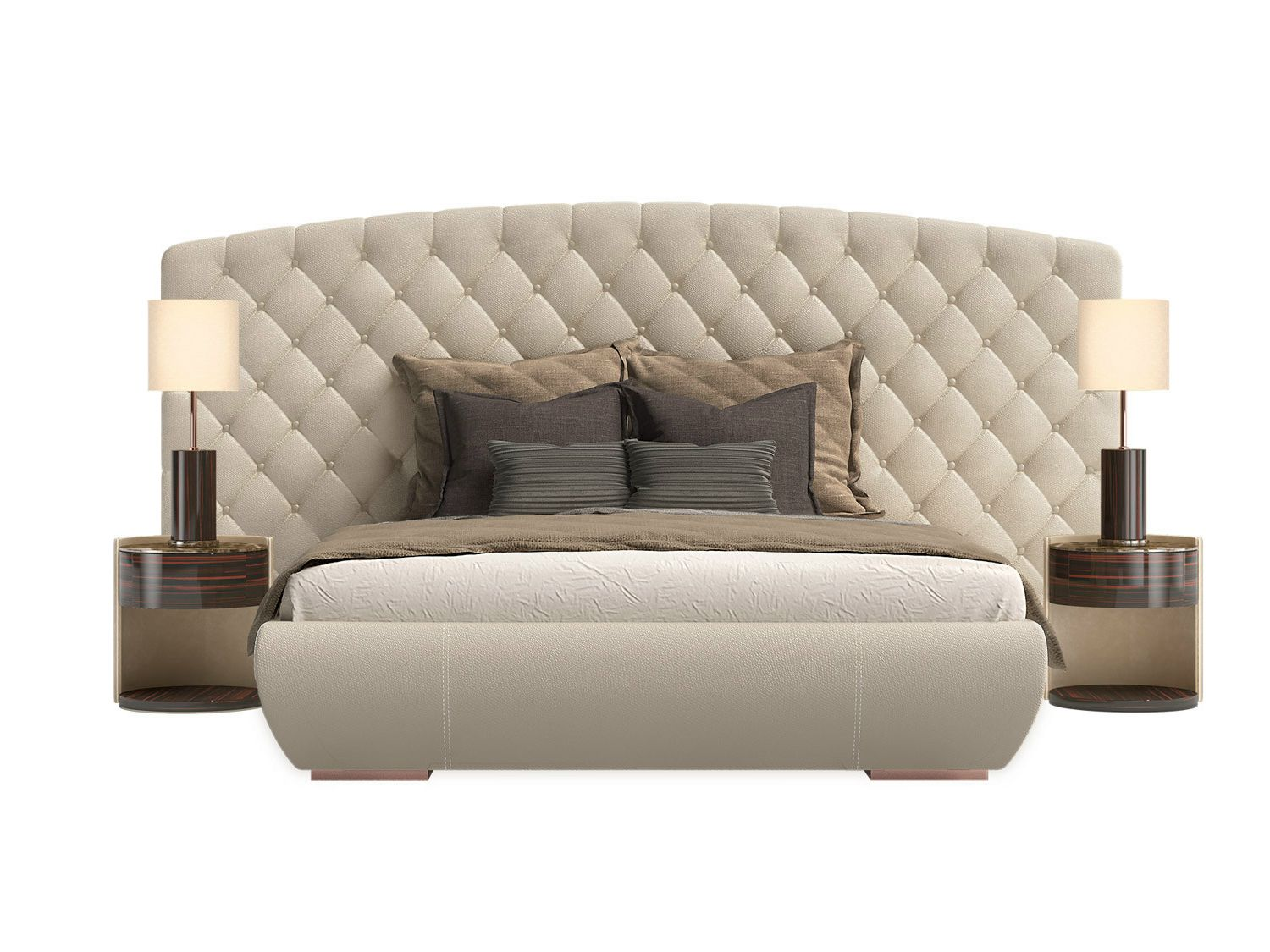 Double Bed With Upholstered Headboard KESY XL By Capital Collection
