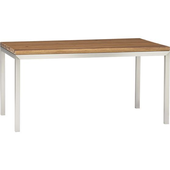 Reclaimed Wood Top Stainless Steel Base 60x36 Parsons Dining
