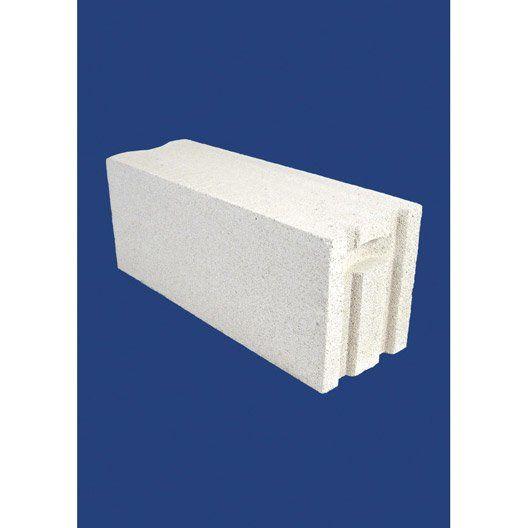 Bloc Beton Cellulaire Beton Cellulaire Nf P 25 X H 60 X Ep 20 Cm Bloc Beton Cellulaire