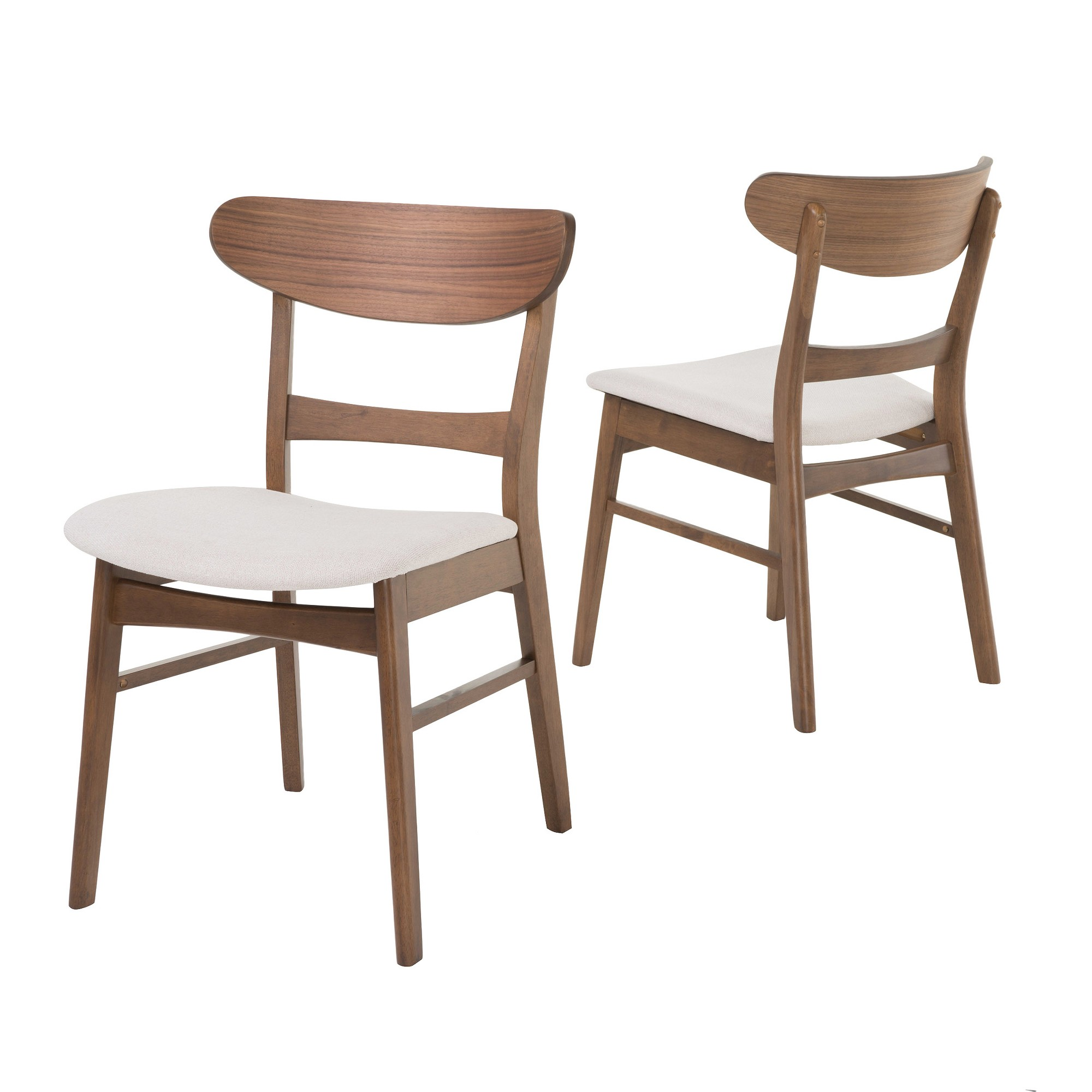 Esszimmermöbel Set Idalia Dining Chair Set Of 2 Light Beige Walnut Christopher
