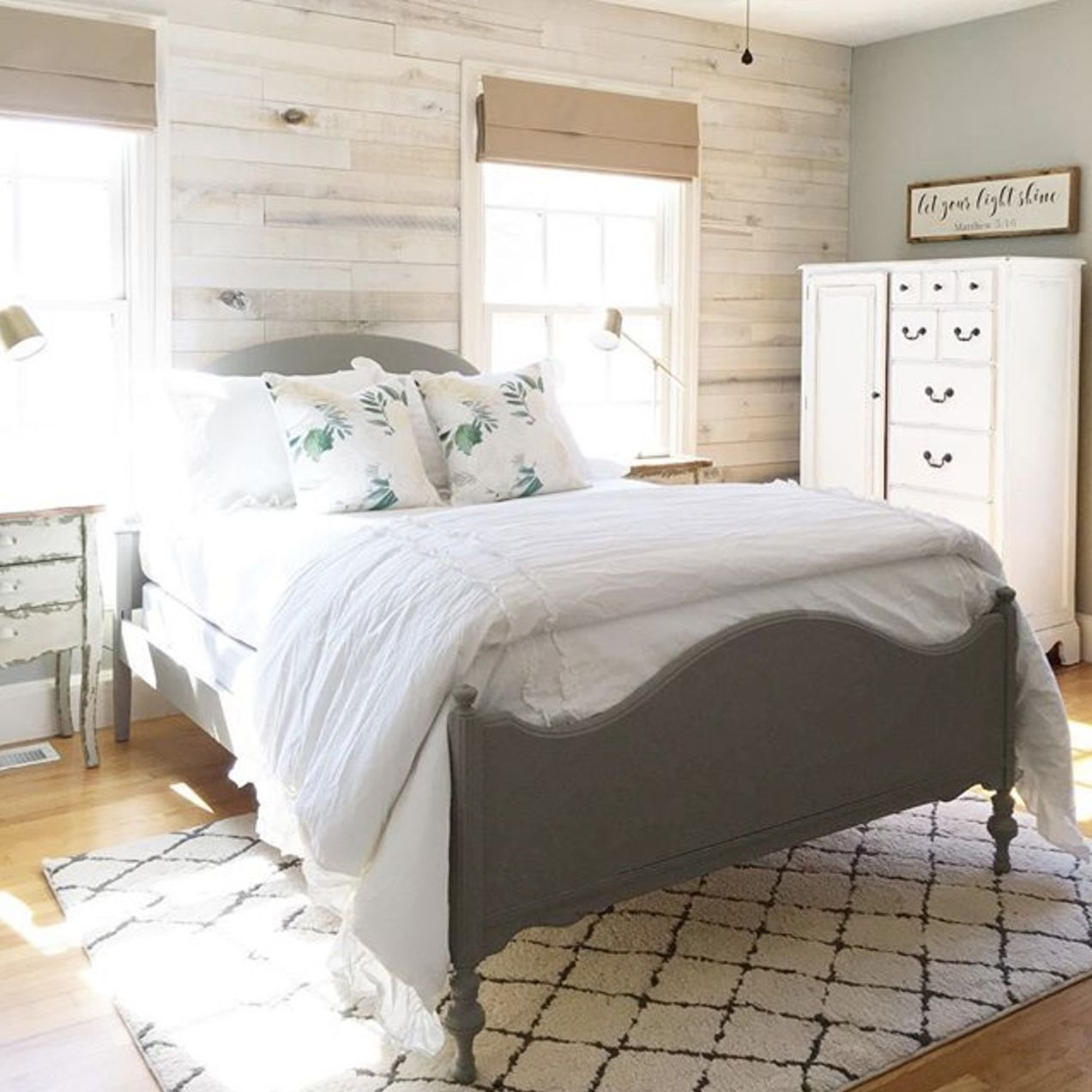 Accent Wall Good Or Bad: White Washed Wall Boards Bedroom Accent Wall By Angela