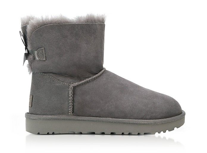 c81f4d86f Grey Mini Bailey Bow Boots | Christmas list | Bow boots, Boots, Uggs