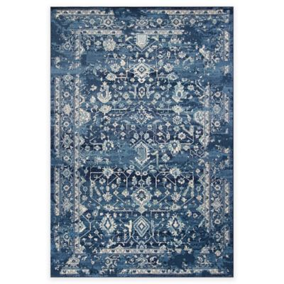 Kas Azure Blue Marrakesh Area Rug Bed Bath Beyond Kas Rugs Floral Rug Rectangular Rugs
