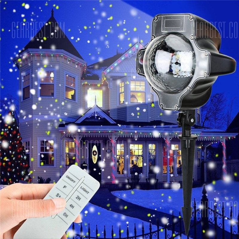 Just 40 08 Supli Christmas Led Snowfall Waterproof Projector Light With Wireless Remote Controller For Outdoor Online Ping At Gearbest Mobile