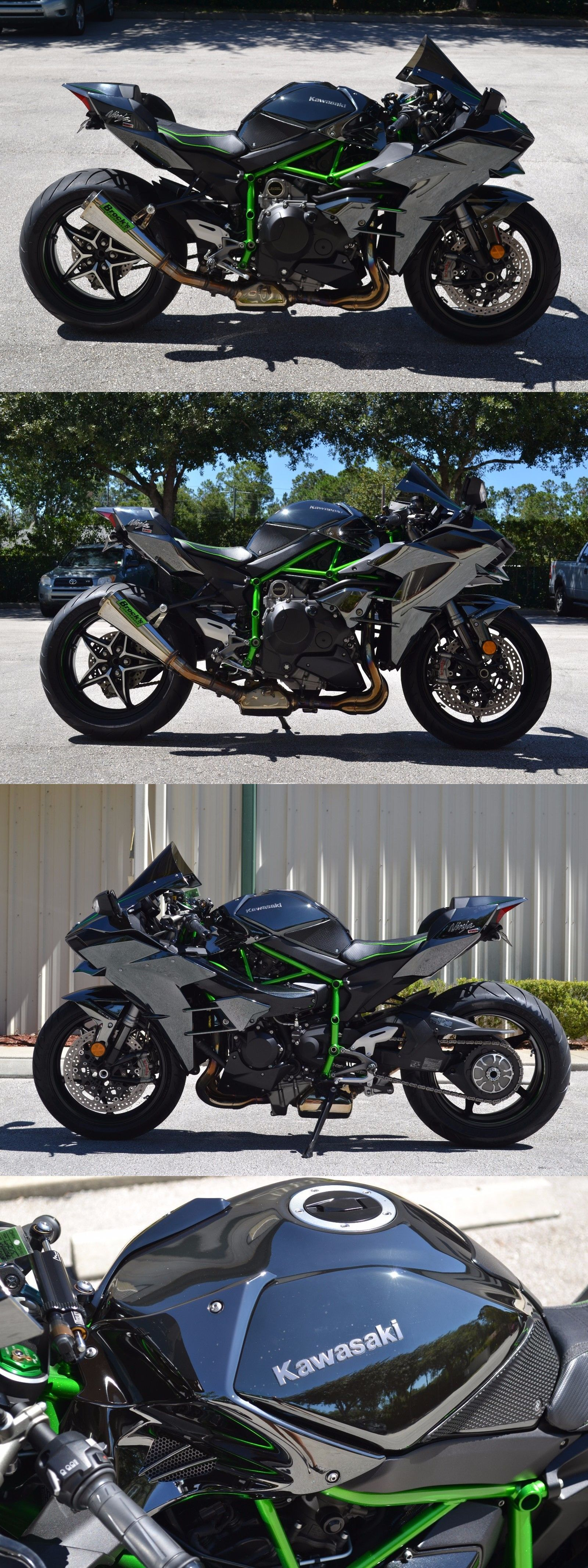 Motorcycles 2015 Kawasaki Ninja H2 1000Cc Supercharged Brock S Exhaust Pc5 Tuned