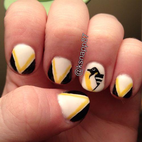 Pittsburgh Penguins hockey nails | Hockey Nails ...