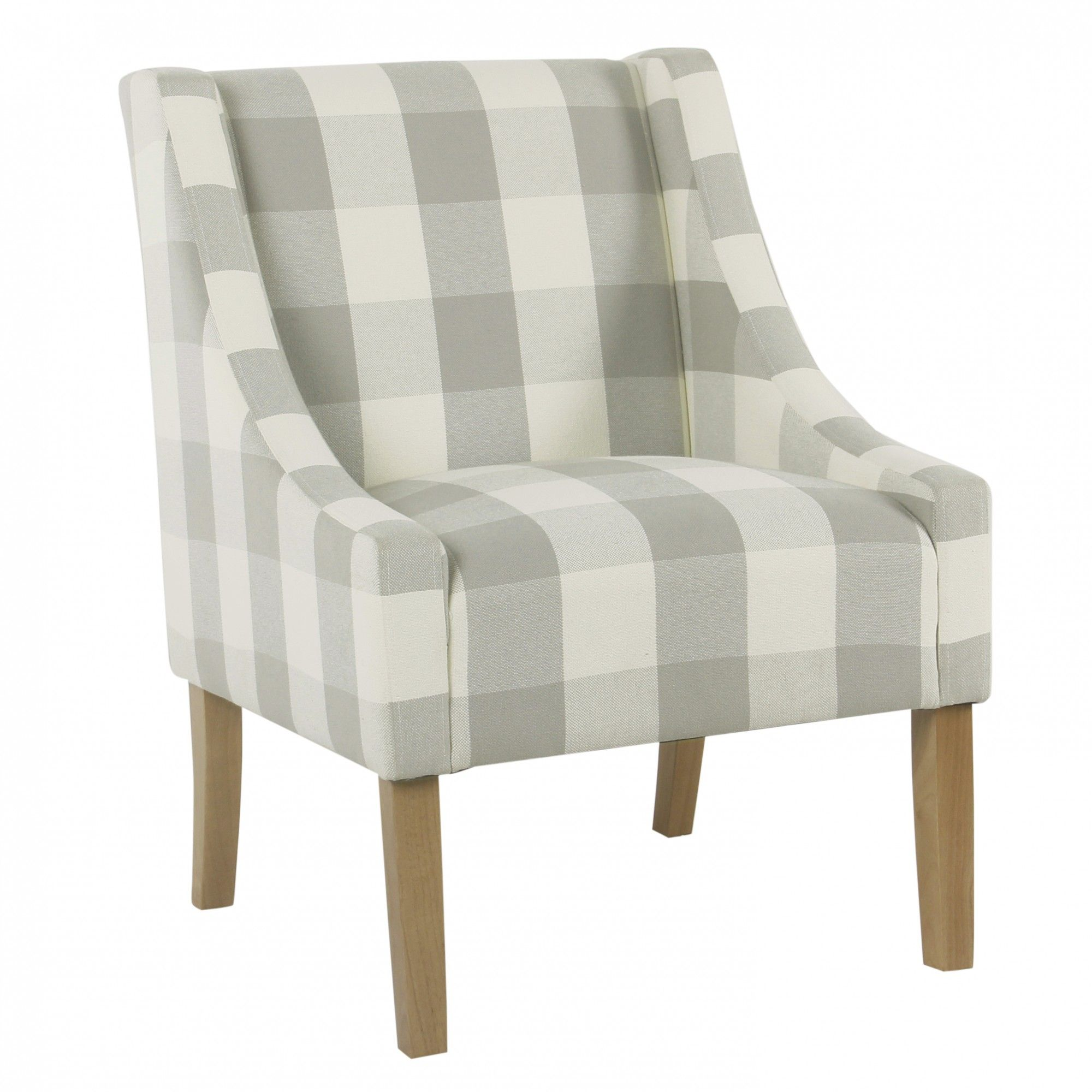 modern swoop accent chair - grey plaid | modern, gray and spot cleaner
