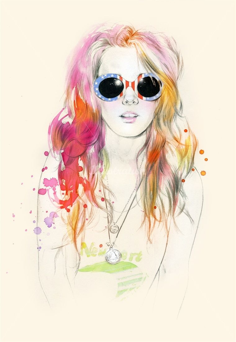 Natalia Sanabria Illustration Portfolio – Fashion Illustrator, contemporary youth fashion Illustrations
