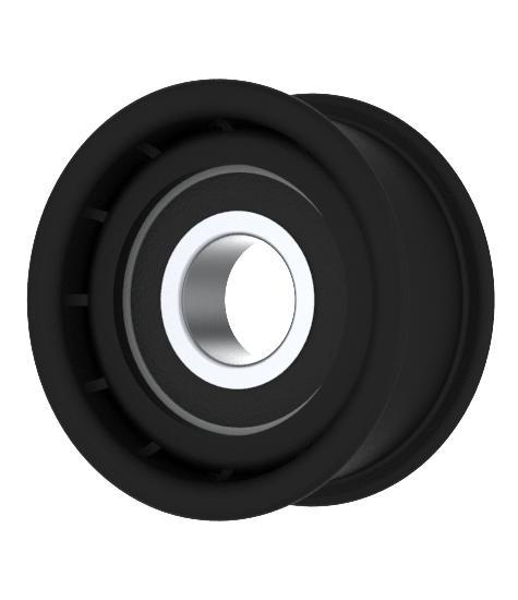 Flat Idler Pulley 2'' Flat Dia. 17mm Bore Plastic