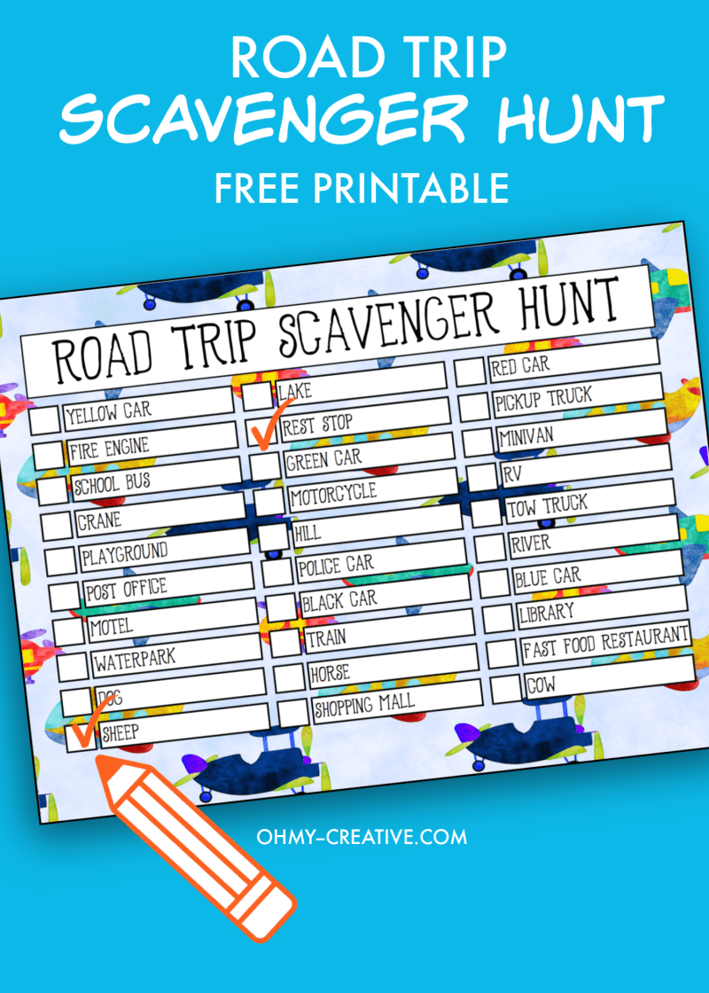 Free Road Trip Printable Scavenger Hunt is part of Road trip printables, Printable road trip games, Road trip scavenger hunt, Road trip, Road trip with kids, Free travel printables - Keep kids entertained on long road trips with this free road trip printable scavenger hunt  They are perfect for kids of all ages