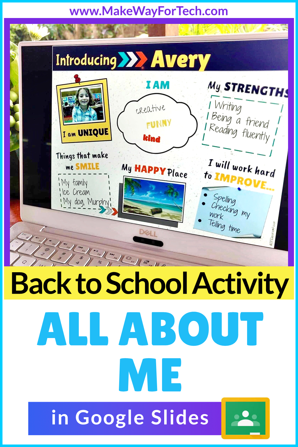 All About Me For Google Slides Digital All About Me Poster Distance Learning First Day Of School Activities First Day Of School All About Me Poster