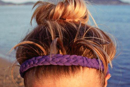 DIY tshirt workout headband