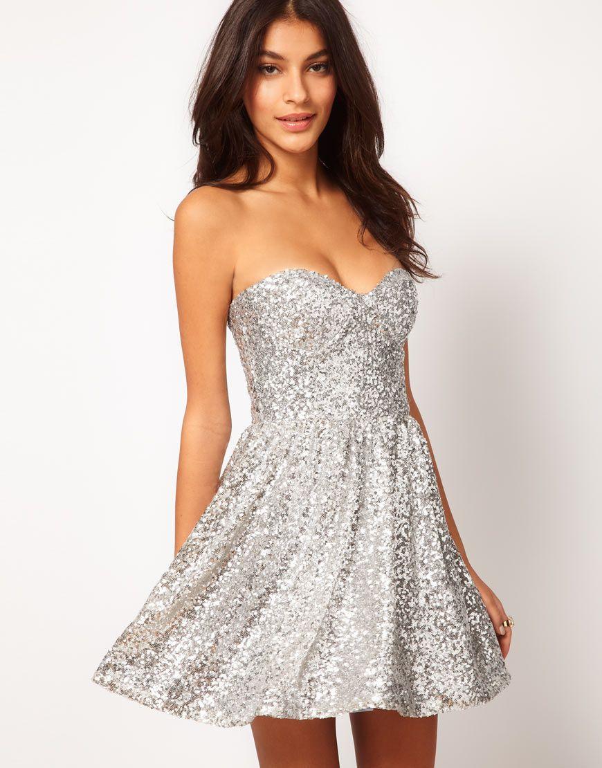 ASOS | ASOS - Prom dress senza spalline con paillettes su ASOS ...