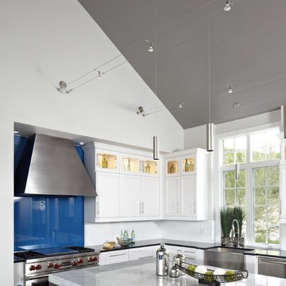 Vaulted Ceiling With Kable Lighting Tech Design