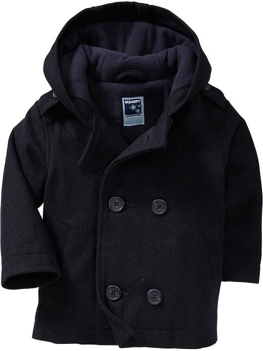 b28fd96b7f37 Hooded Wool-Blend Peacoats for Baby