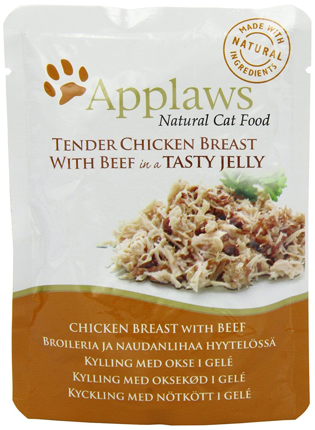 Applaws Cat Pouch Chicken With Beef In Jelly 70 G Pack Of 16 You Can Get More Details By Clicking On Healthy Cat Food Wellness Cat Food Natural Cat Food