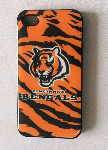 Fitted iPhone 4/4s Cases NFL Bengals logo back covers by