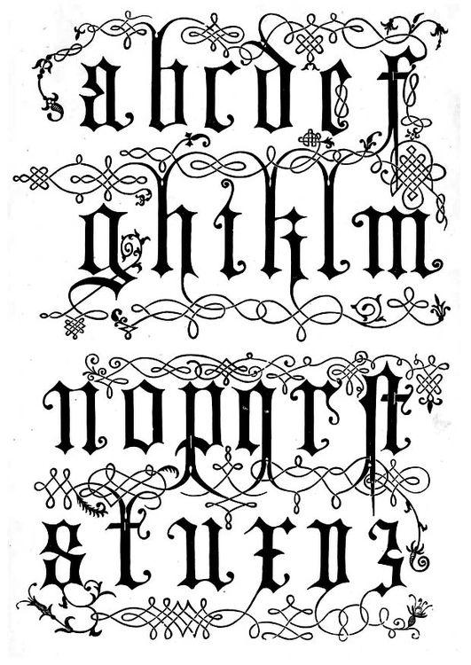 Malvorlage Buchstaben 16 Jahrhundert Ausmalbild 11257 Typografie Alphabet Alphabet Buchstaben Buchstaben Schriftarten