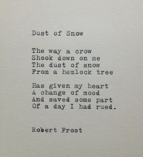 Robert Frost Snow Poem Typed on Typewriter by farmnflea on Etsy, $10.00