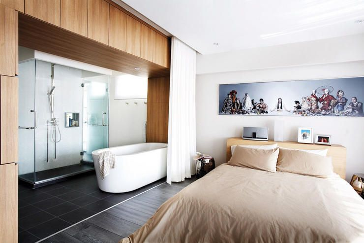 25 Sensuous Open Bathroom Concept For Master Bedrooms Furdoszoba