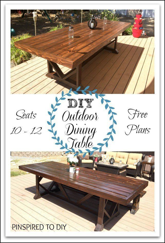 Diy Large Outdoor Dining Table Woodworking Furniture Plans