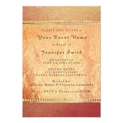 Rose gold copper silk bronze metallic formal peach card bridal rose gold copper silk bronze metallic formal peach card bridal showers wedding invitation cards and custom invitations stopboris Gallery