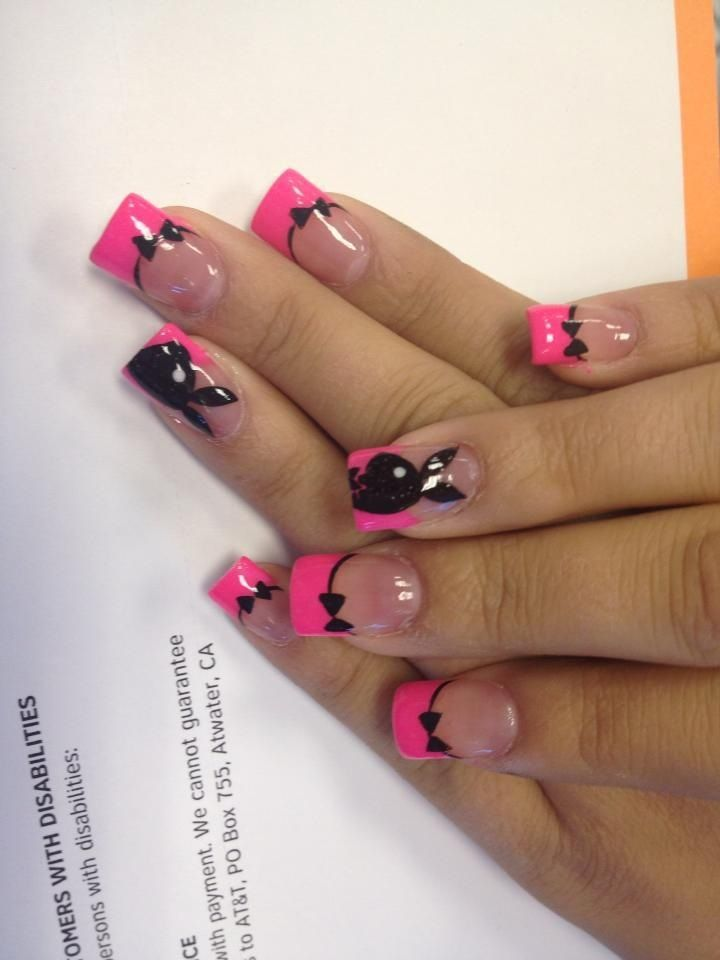 Playboy nails | Nails | Pinterest | Bunny nails, Nail nail and Mani pedi