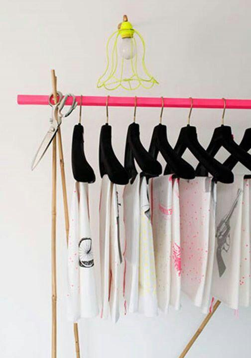Bright clothes rack | Diy, Diy clothes hangers, Kids ...