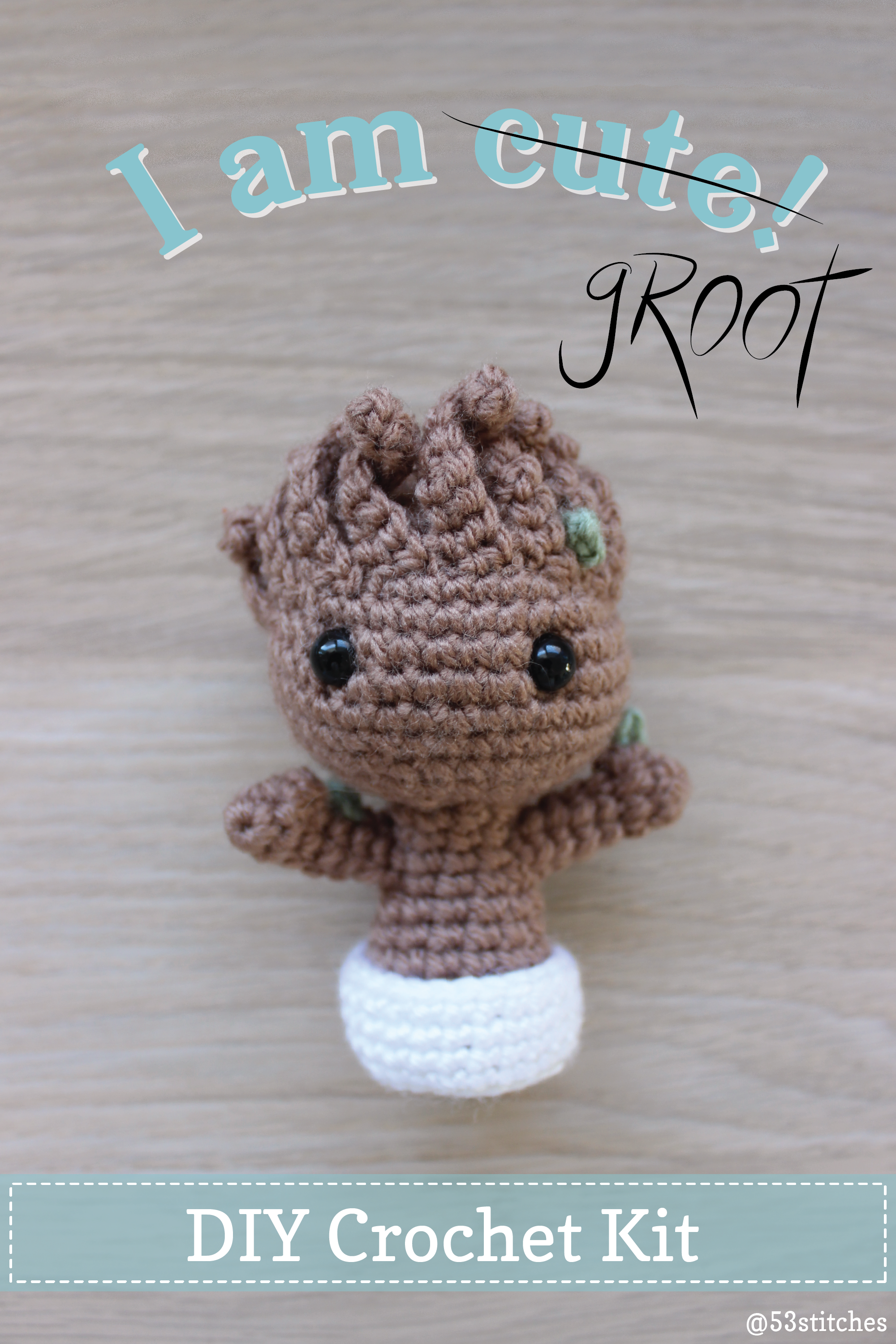 Crochet Potted Baby Groot Free Patterns | Geeky crochet patterns ... | 3000x2000