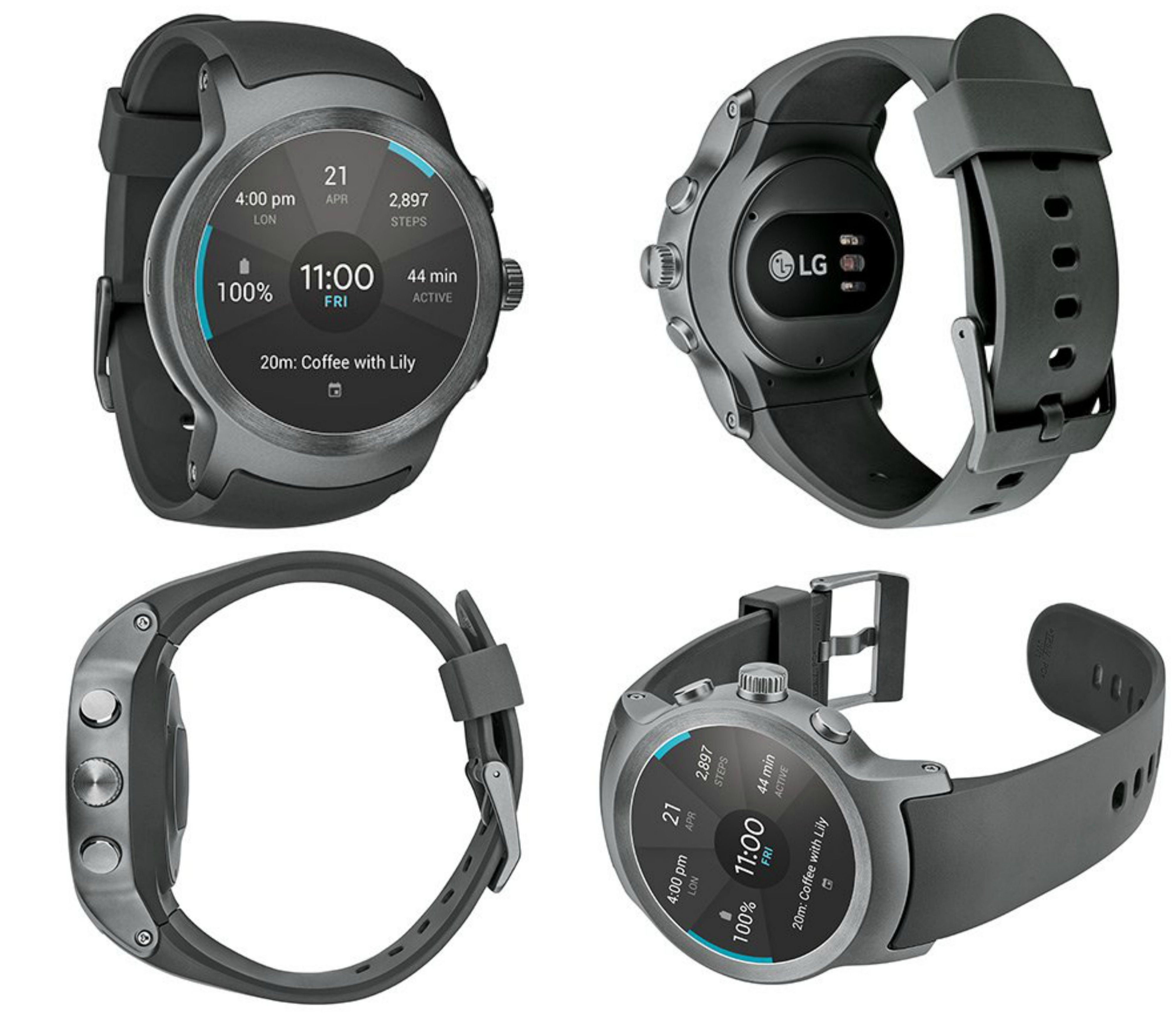 LG Watch Sport Unlocked GSM (Silver/Titan) In Stock The LG