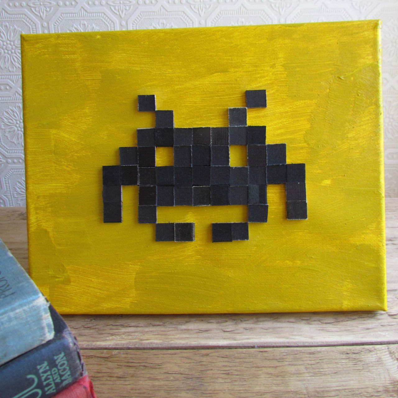 Recycled Book 8-bit Art by D+PAD | Video Game Home Decor | Pinterest ...
