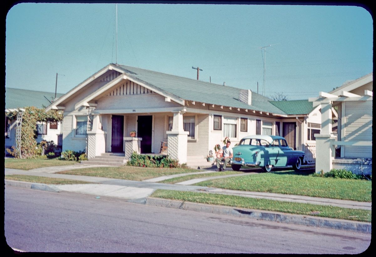 Vintage Bungalow House In Long Beach California Ft