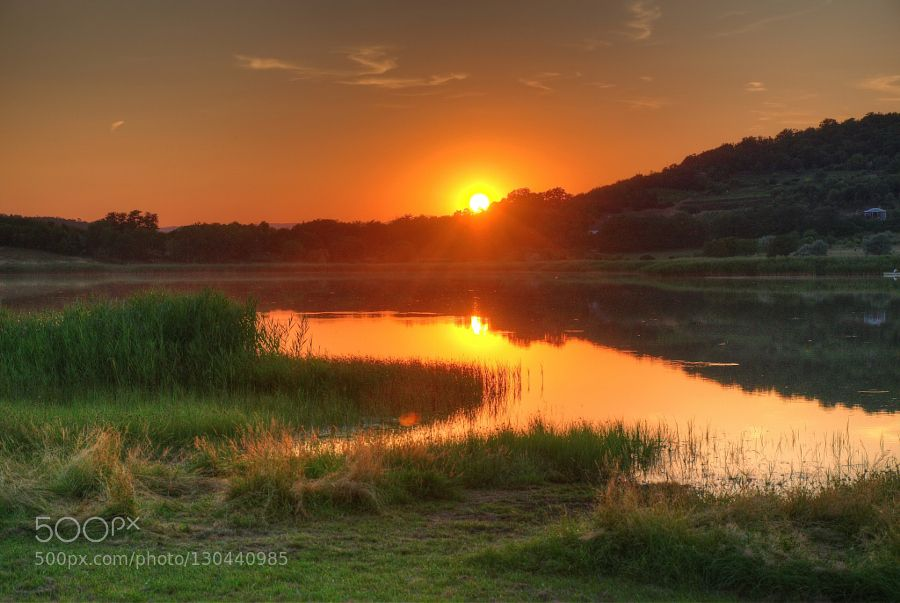 Sunset at Tihany Hungary by PeterMocsonoky