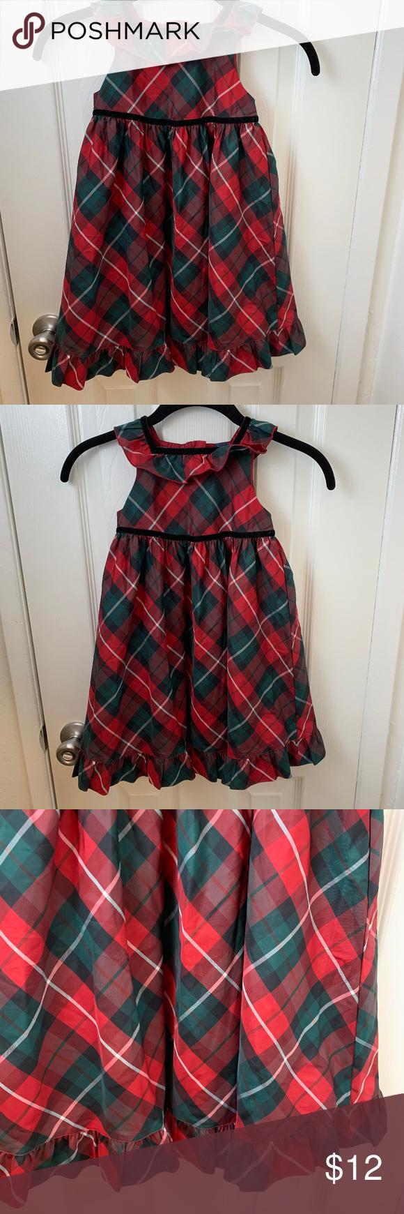 Gap Toddler Red Green Plaid Dress 4t Green Plaid Dress Plaid Dress Gap Dress [ 1740 x 580 Pixel ]