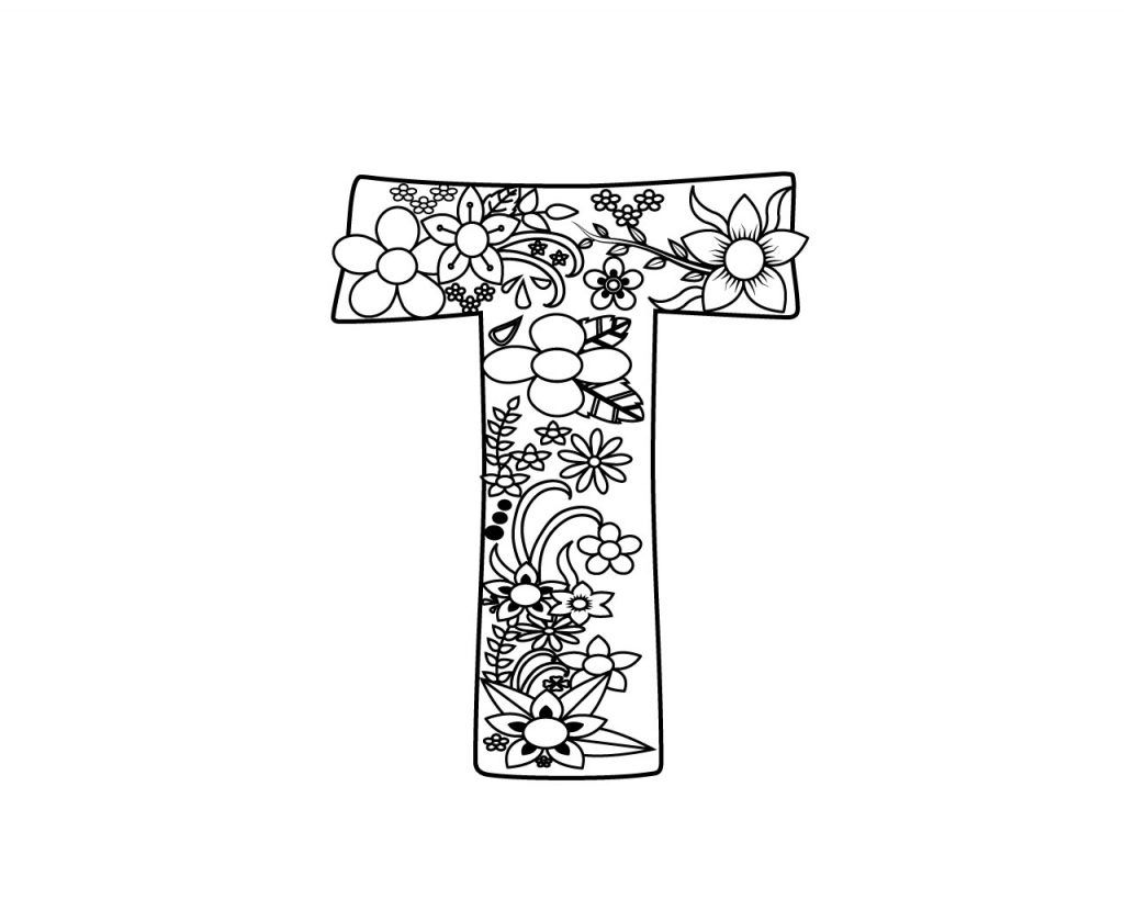 Letter T Coloring Pages For Adults Coloring Pages Free Coloring Pages Free Printable Letters