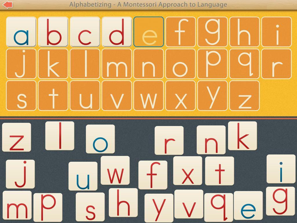 Abc Montessori Alphabetizing