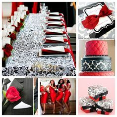 Red Black And White Wedding Ceremony Ideas