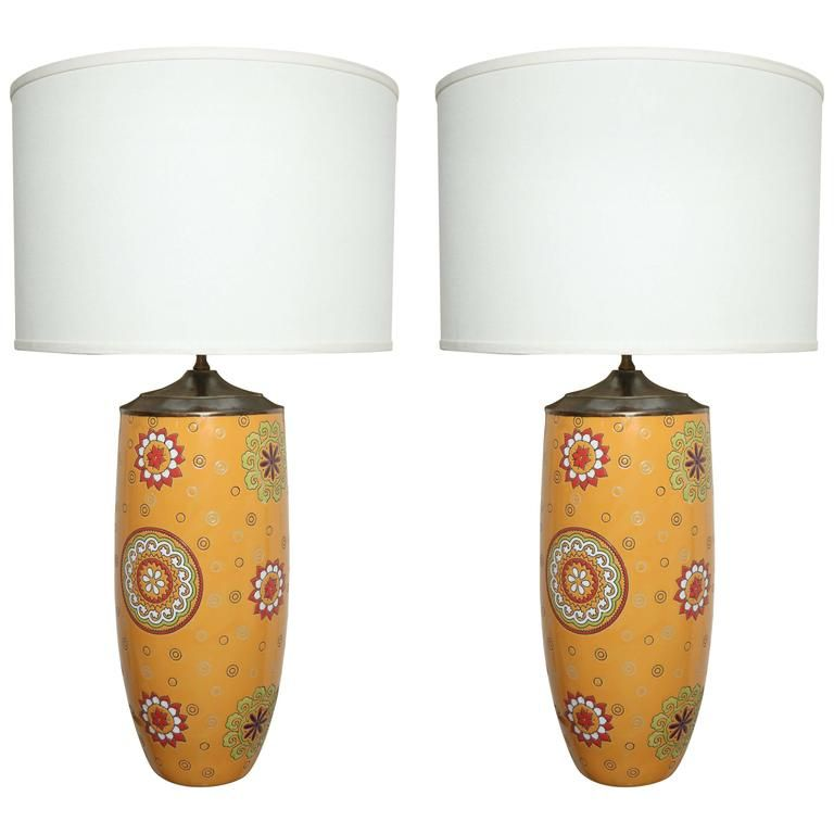 Unusual Pair of Portuguese Table Lamps | From a unique collection of antique and modern table lamps at https://www.1stdibs.com/furniture/lighting/table-lamps/