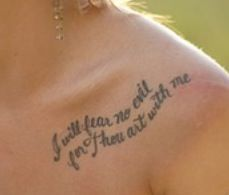 I Will Fear No Evil For Thou Art With Me Psalm 23 4 Evil