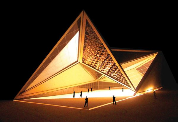folded plate architecture | Origami | Folding architecture