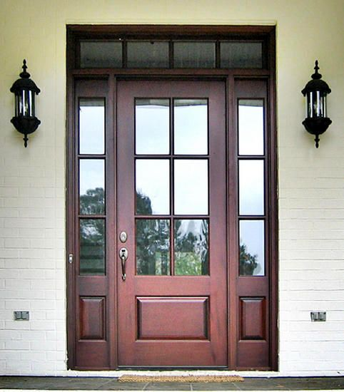 Craftsman Exterior Wood Entry Door   Like The Glass Transom Which Would  Match Other Pictures Where Windows Also Have Transoms