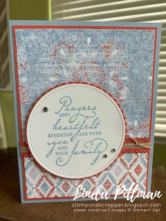 Woven Heirlooms Stampin' Up! Sympathy Card—Stamp and Scrapper