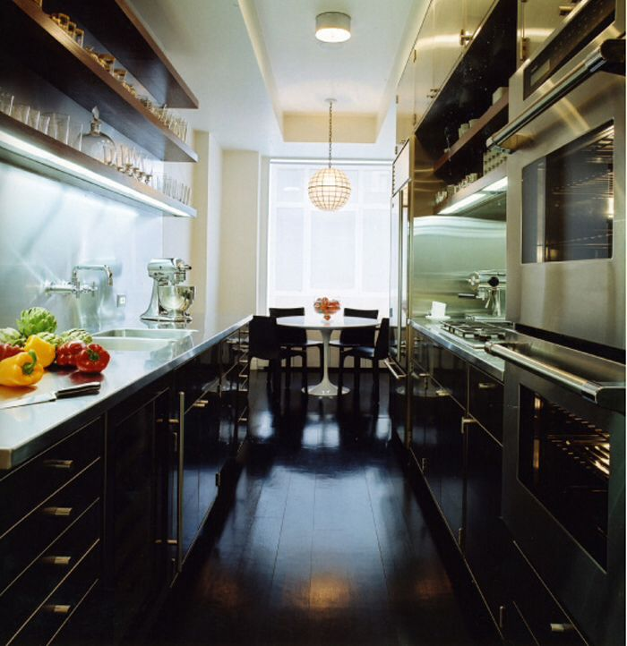 Kitchen With Black Floor: My Galley Kitchen As It Should Be.