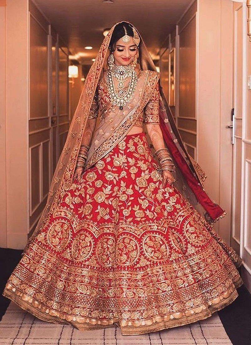 222a4169aed2 Exclusive Heavy Designer Beautiful Bridal Red Color Bridal Lehenga Choli- STYLIZONE – Stylizone A beautiful