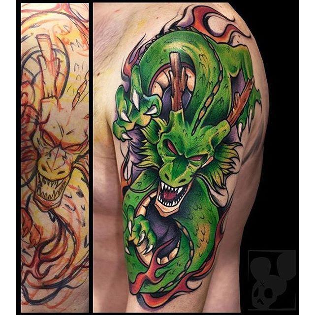 Log In Instagram Dragon Ball Tattoo Japanese Dragon Tattoos Z Tattoo